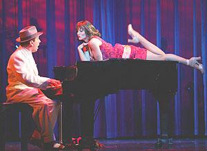 Billy Philadelphia croons to Joanna Louise in Hoagy: The Hoagy Carmichael Musical at the Coconut Grove Playhouse.  BILL SUMNER